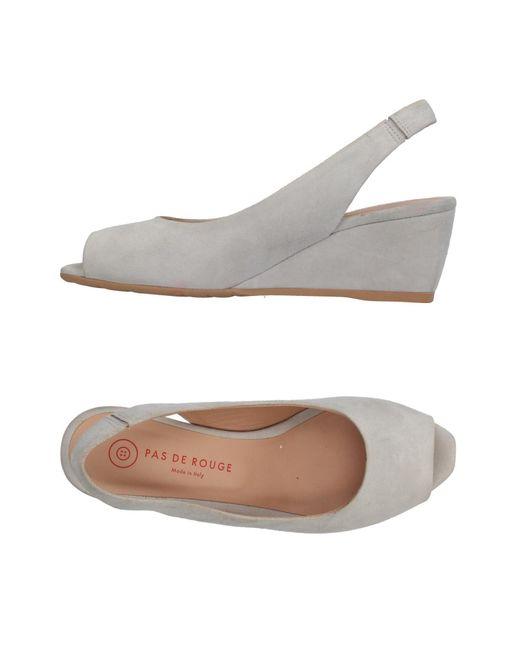 Pas De Rouge - Gray Sandals - Lyst