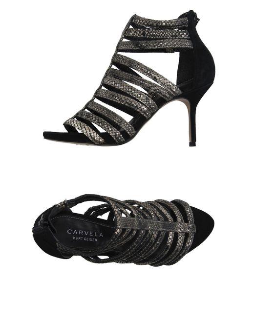 Carvela Kurt Geiger   Black Sandals   Lyst
