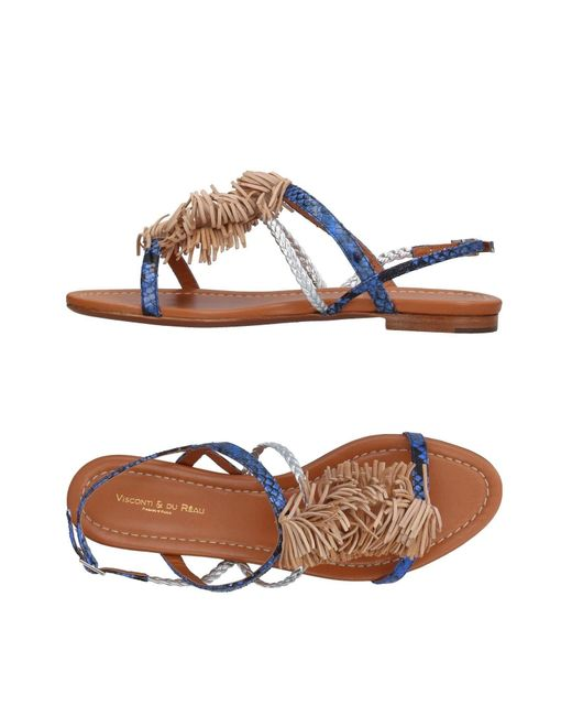 Visconti & Du Réau - Blue Sandals - Lyst