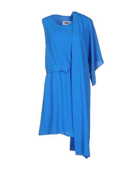 MM6 by Maison Martin Margiela - Blue Short Dress - Lyst