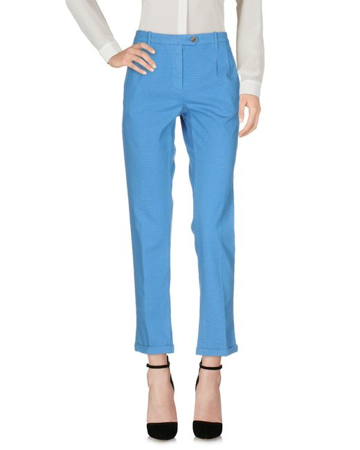 Pence - Blue Casual Trouser - Lyst