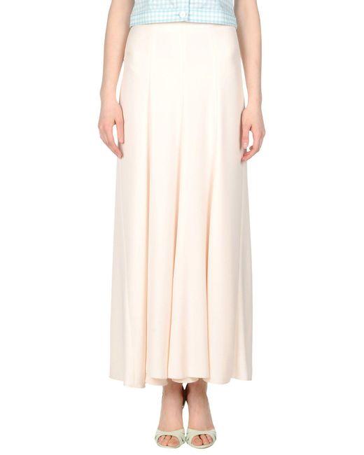 Dondup | Natural Long Skirt | Lyst