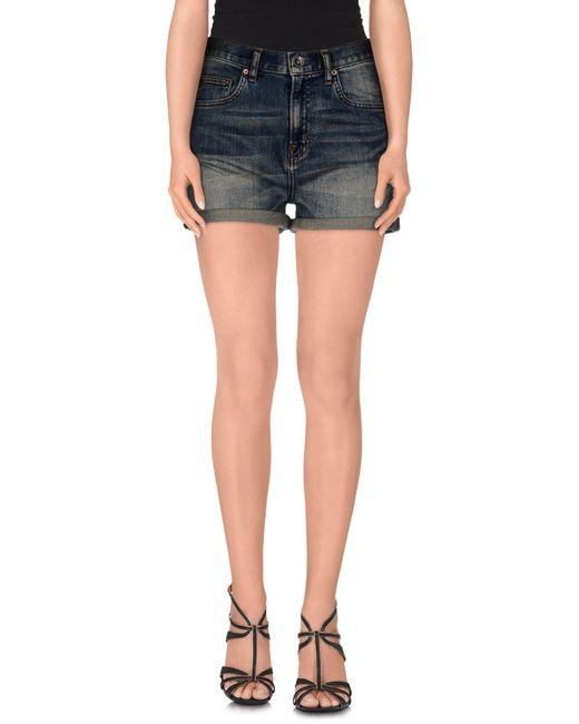 Wesc   Blue Denim Shorts   Lyst
