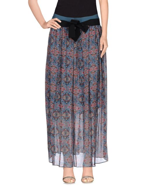 Pinko - Gray Long Skirt - Lyst