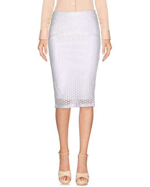 Frankie Morello - White Knee Length Skirts - Lyst