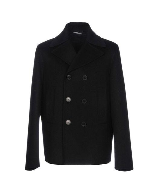 Valentino - Black Coat for Men - Lyst