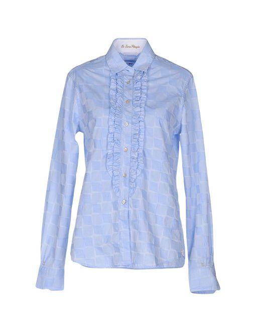 Le Sarte Pettegole | Blue Shirt | Lyst