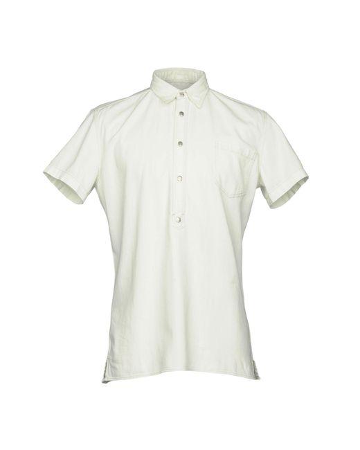 Hydrogen - White Denim Shirt for Men - Lyst