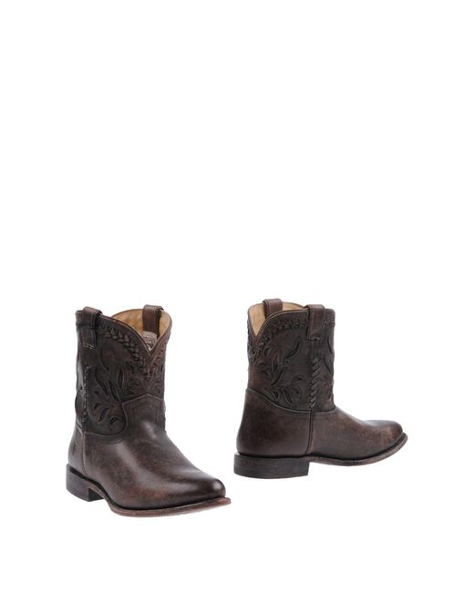 Frye - Brown Ankle Boots - Lyst
