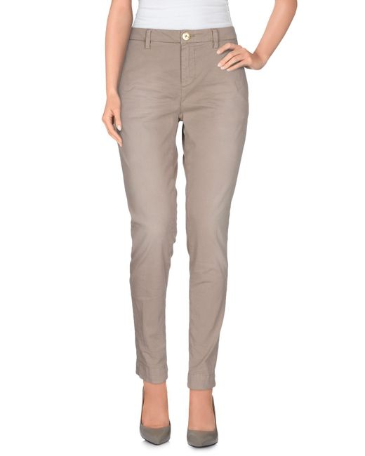 Aglini - Gray Casual Pants - Lyst