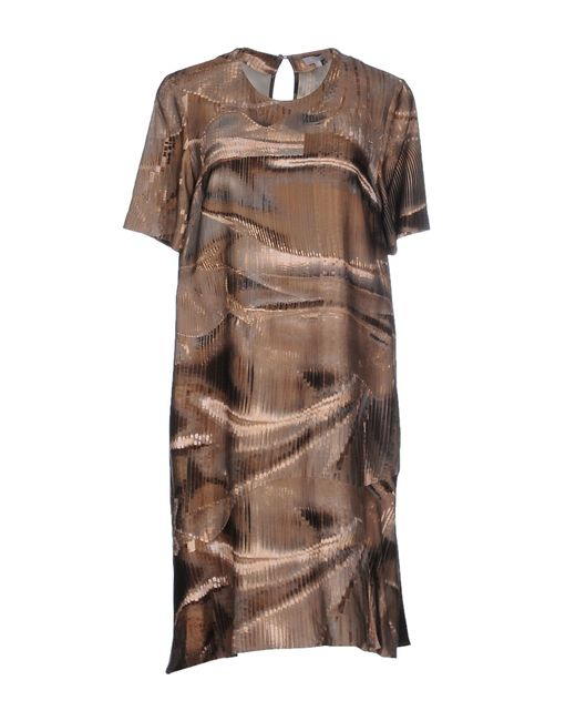 Lala Berlin   Brown Short Dress   Lyst