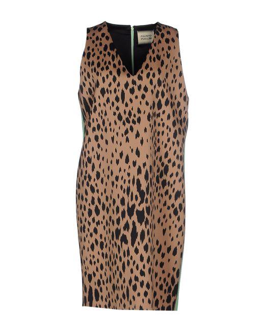 Fausto Puglisi | Brown Short Dress | Lyst