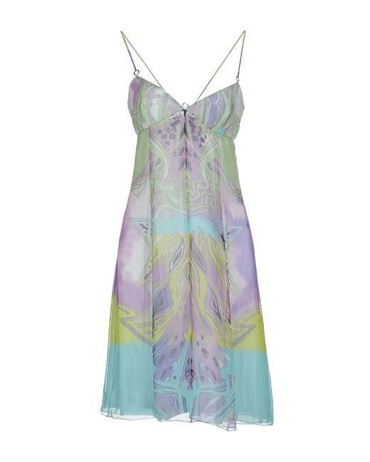 Emilio Pucci   Green Short Dress   Lyst