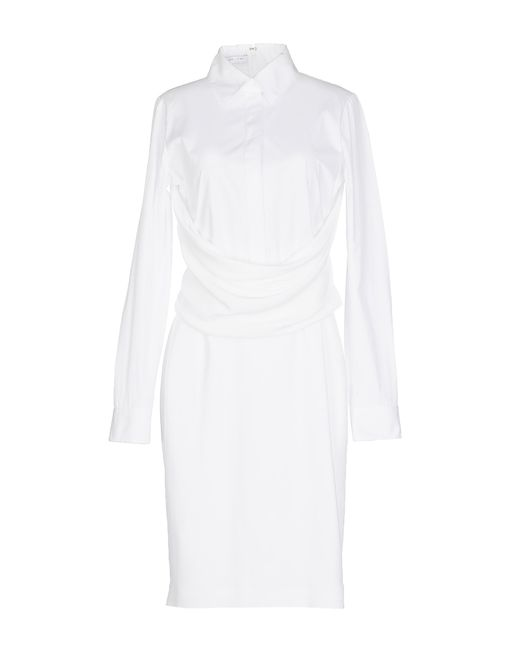 Givenchy | White Smocked Cottonpoplin Dress | Lyst