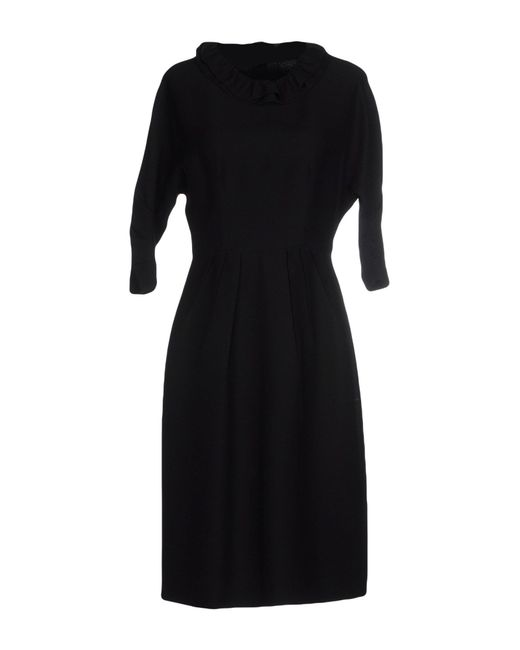 Prada | Black Knee-length Dress | Lyst