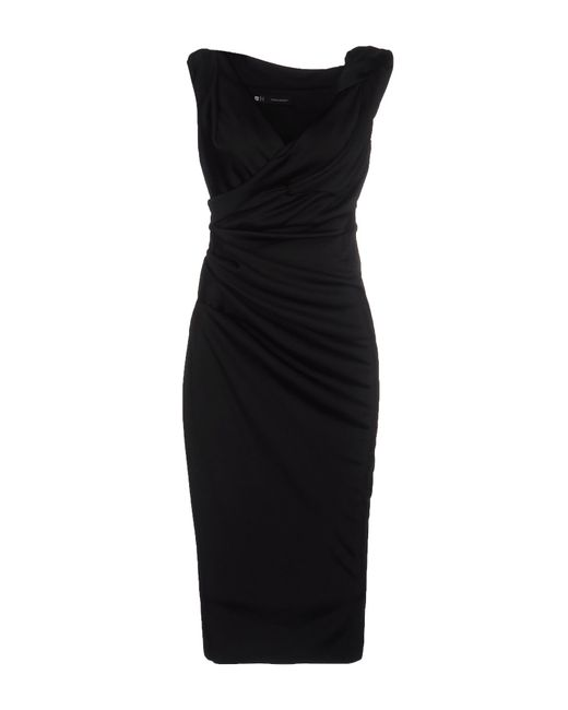 DSquared² | Black 3/4 Length Dress | Lyst