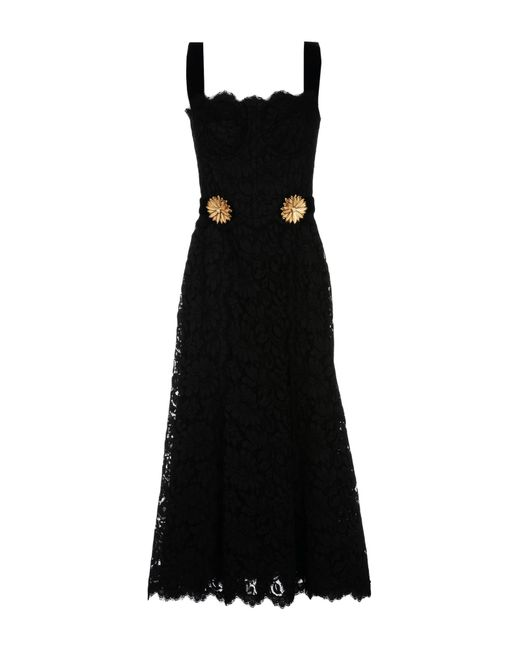 Dolce & Gabbana   Black 3/4 Length Dress   Lyst