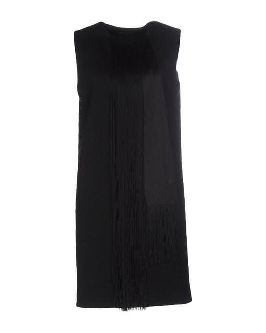 Lanvin | Blue Structured Ruffled Taffeta Dress | Lyst