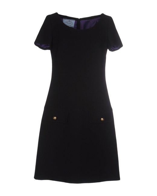 Prada | Black Short Dress | Lyst