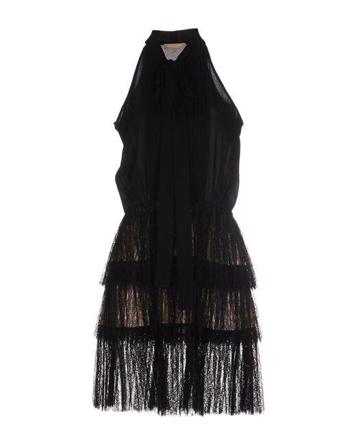 Michael Kors | Black Sleeveless Ruffle-skirt Sheath Dress | Lyst
