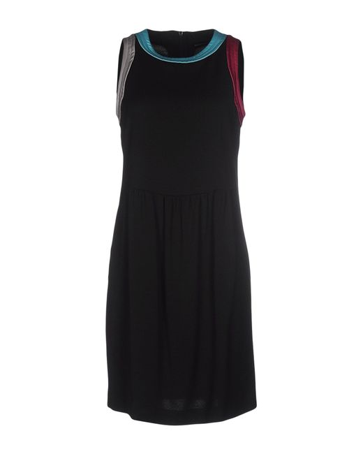 Emporio Armani | Black Short Dress | Lyst