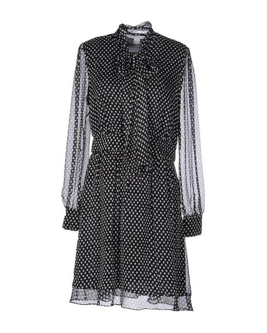 Diane von Furstenberg | Beige Arabella Tie Neck Silk Dress | Lyst