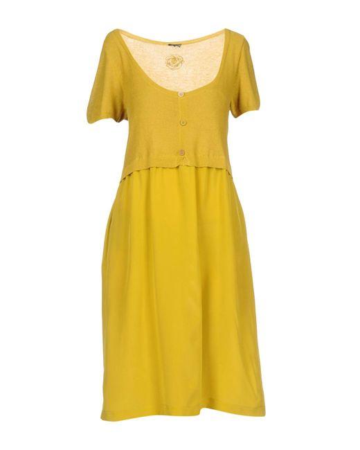 Maliparmi | Yellow Knee-length Dress | Lyst