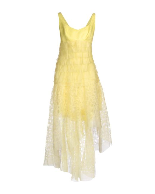 Ermanno Scervino | Yellow Knee-length Dress | Lyst