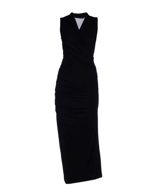 Rachel Roy   Black Long Dress   Lyst