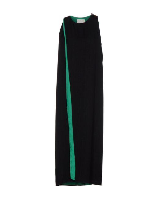 Maison Rabih Kayrouz | Black 3/4 Length Dress | Lyst
