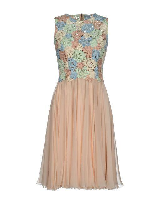 Dolce & Gabbana | Pink Short Dress | Lyst