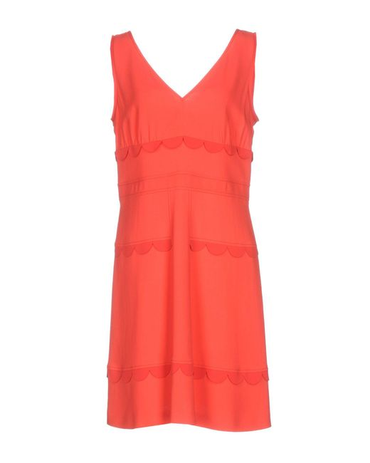 M Missoni | Red Short Dress | Lyst