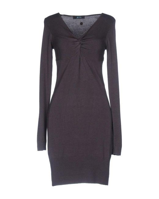 Guess | Brown Short Dress | Lyst