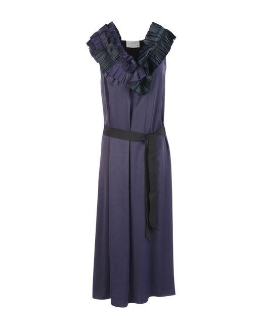 Maison Rabih Kayrouz | Blue 3/4 Length Dress | Lyst