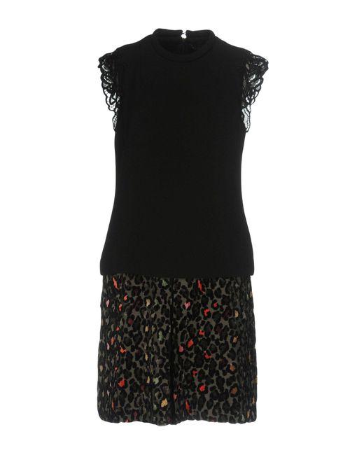 Twin Set   Black Short Dress   Lyst