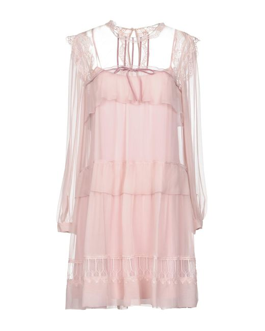 Alberta Ferretti - Pink Short Dress - Lyst
