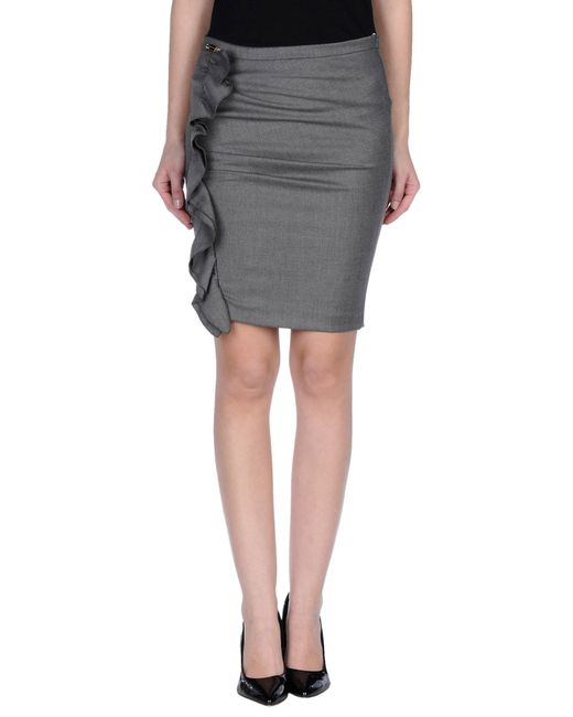 GAUDI | Gray Knee Length Skirt | Lyst