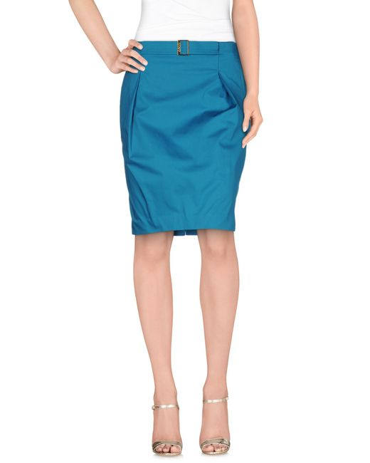 Liu Jo   Green Knee Length Skirt   Lyst
