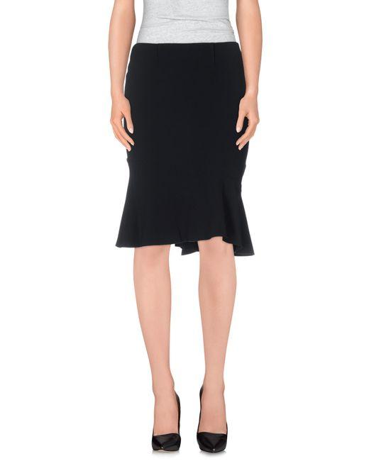 Blumarine | Black Knee Length Skirt | Lyst