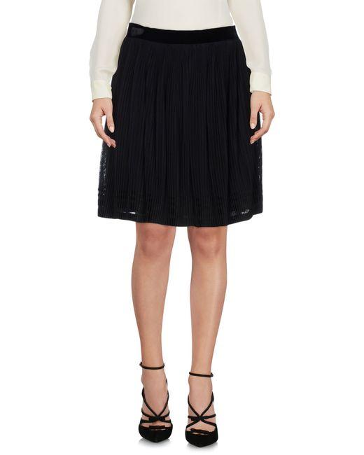 Alberta Ferretti | Black Knee Length Skirt | Lyst