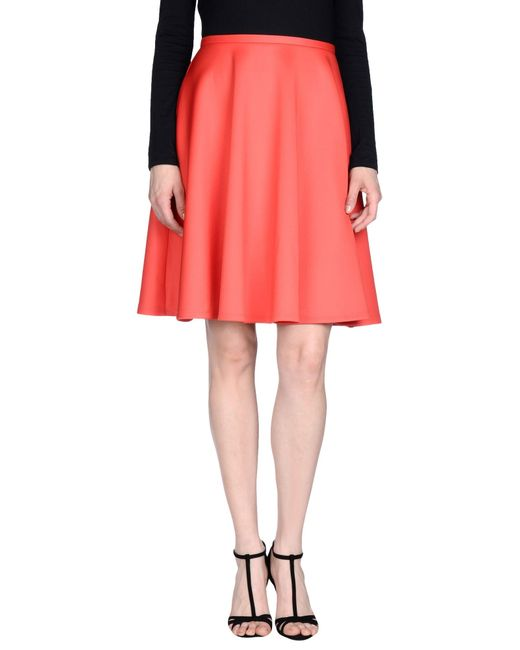 ted baker knee length skirt in coral lyst