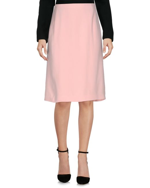 escada knee length skirt in pink lyst