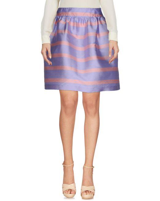 Ultrachic | Purple Knee Length Skirt | Lyst