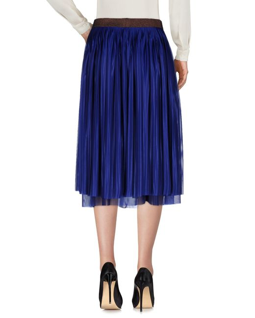 Victoria beckham 3 4 length skirt in blue lyst for 20 34 35 dress shirts