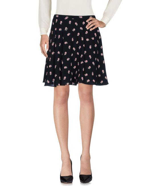 Miu Miu | Black Knee Length Skirt | Lyst