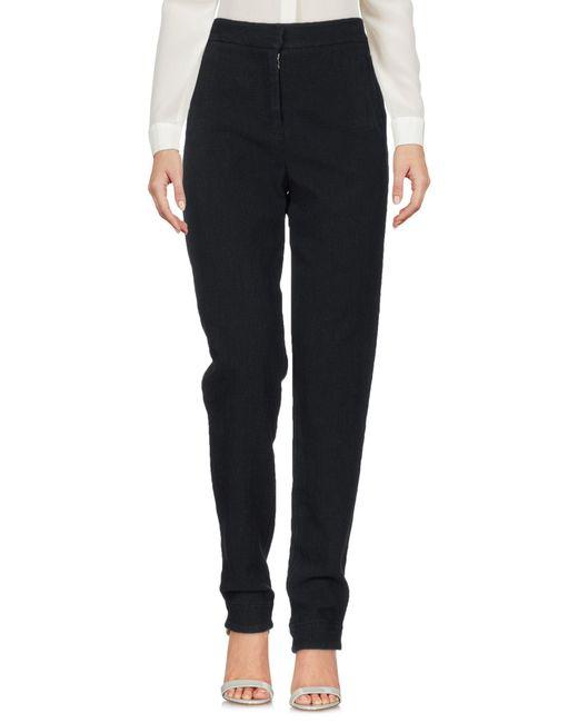 Raquel Allegra Black Casual Pants