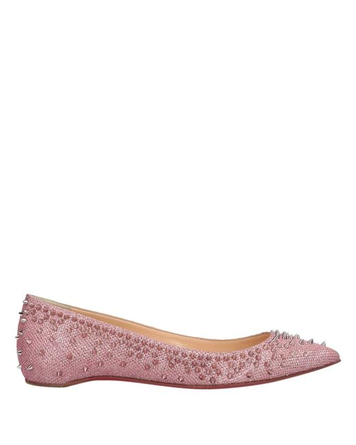 7d99d9fa06f2 Christian Louboutin - Pink Ballet Flats - Lyst ...