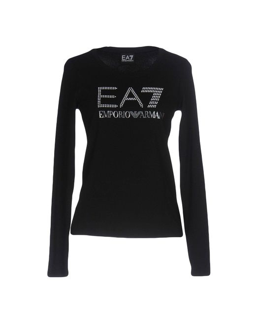 EA7 | Black T-shirt | Lyst