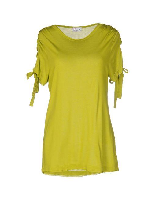 RED Valentino | Green T-shirt | Lyst