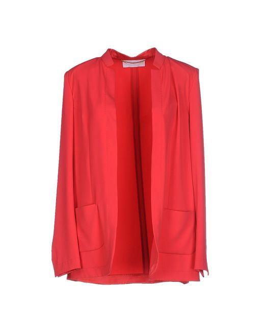 Les Copains - Red Blazer - Lyst